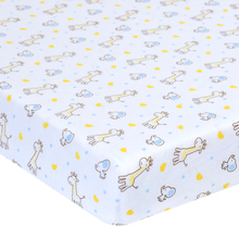 100% jersey cotton high quality baby fitted crib sheet 2 pack