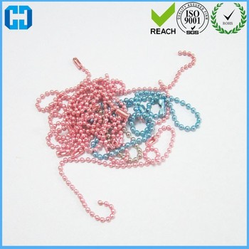 Wholesale Connector Clasp Bead Chains Keychain Tag Ball Chain