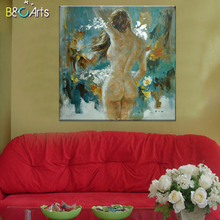 Open hot sexy nude male body photo portrait painting for hotel decoration