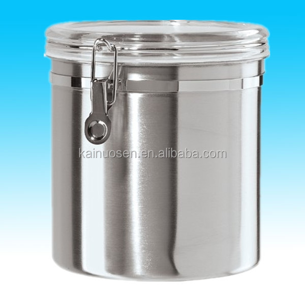 coffee sugar kitchen stainless steel canister made in china
