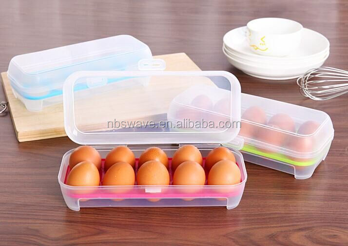 kitchen tools refrigerator egg fresh storage box Hamper Portable plastic egg box