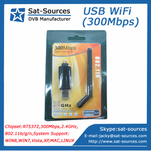 300Mbps Wireless USB WiFi Adapter with Ralink RT5372 chipset