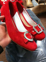 2014 new design trachten lady shoes, bavarian lady shoes