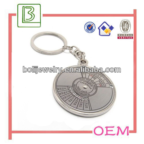 Promotion Gifts 50-year Calendar/metal compass keychain