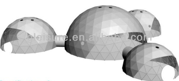 Geodesic dome tent,steel frame dome gazebo,dome shade for events
