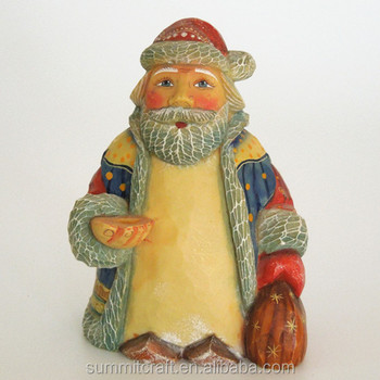 Custom hand painting santa resin figurine