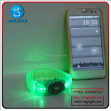 Wholesale Birthday Party Suplies LED TPU Flashing Bracelets