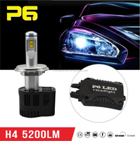 H4-5200LM / Aluminum Lighitng Post + Black Bottom Case / P6 LED Headlight / 55W NEW Version