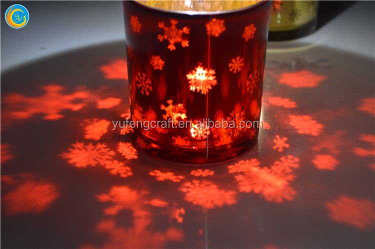 Christmas Tree Design New Concept Glass Tea Light Candle Holders for Christmas Gifts