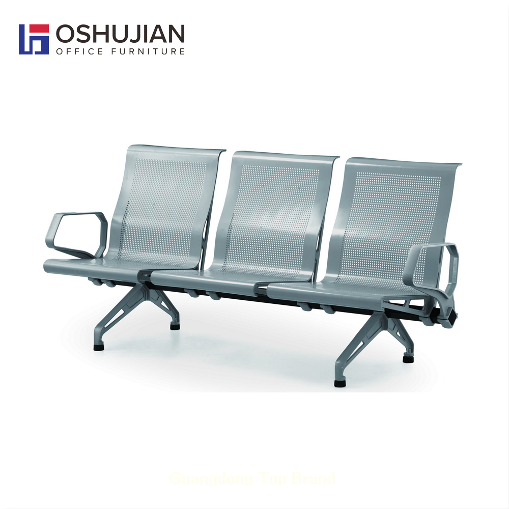 Comfortable airport chair aluminum railway station bench