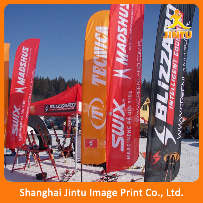 Outdoor feather beach banner flag ads printed for display