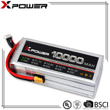 Professional factory price rechargeable li-polymer 7.4v 2S high capacity 10000mAh 10Ah 25C rc battery