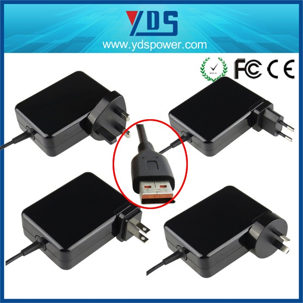 Factory wholesales usb power desktop adapter for lenovo yoga3 20v 2a 40w laptop ac adapter psu