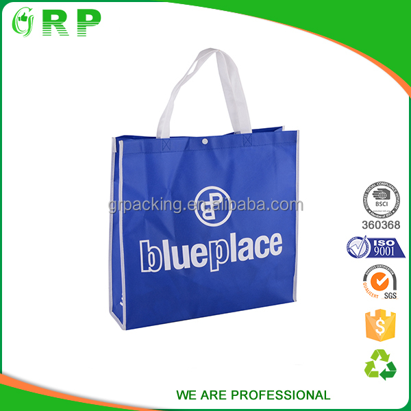 Promorional logo print eco-friendly recyclable non woven grocery bag