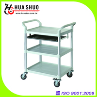 3 Shelves w/Keyboard Tray Tool Trolley
