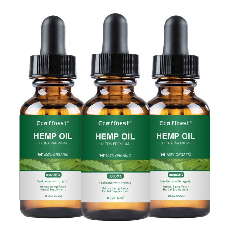 ECO finest Organic Hemp Oil 5000mg Private Label 100% Natural Anti-Aging Facial Treatment Hemp Oil