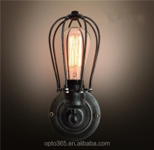 Industrial Vintage Mini Metal ORB Wall Sconce Wire Cage Lamp