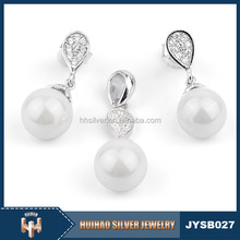 bulk wholesale latest design indian 925 sterling silver freshwater pearl jewellery for bridal