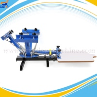 DX401S manual 4 color 1 station T-shirt silk screen printing machine