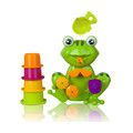 ICTI certificated custom made Bath Tub Toy Kid Green Frog 4 Stacking Cups Water Spray Safe Plastic toy