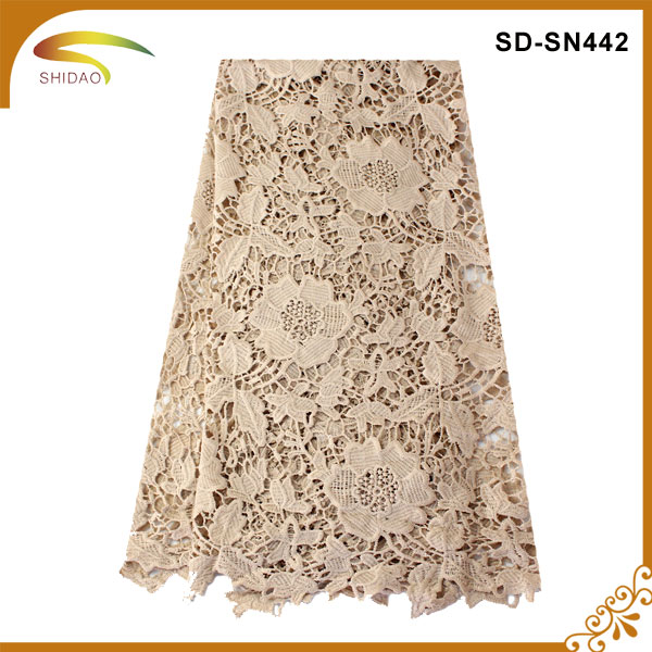 custom new arrival floral lace jacquard wholesale stretch lace fabric,ivory lace fabric wholesale