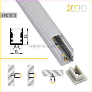 Anodized U shape W10*H13mm ultra-narrow led aluminum profiles housing channel for led strip light