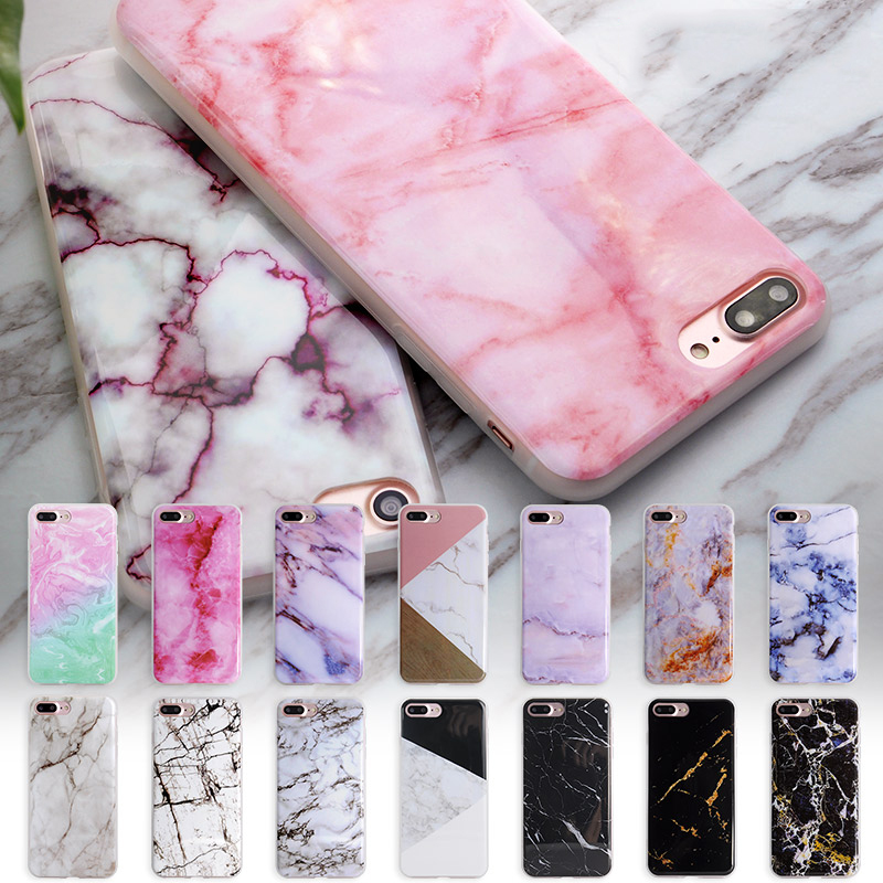 Soft TPU Case for iphone 5s 5 SE 6 6s 6plus New Granite Scrub Marble Stone image Flower Painted Phone Case For iphone 7 7plus