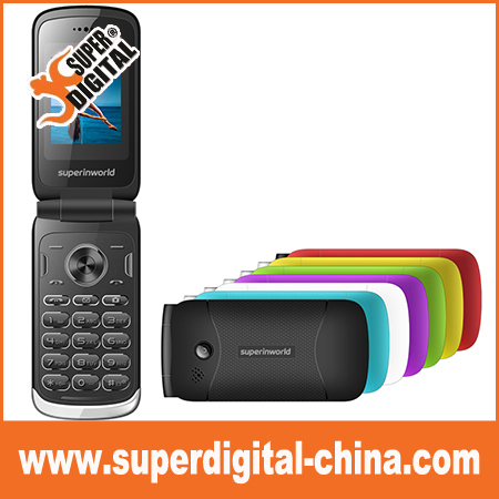 1.8inch TFT Display Screen Support Dual SIM Card/Torch/Camera Senior cell Phone Flip mobile phone