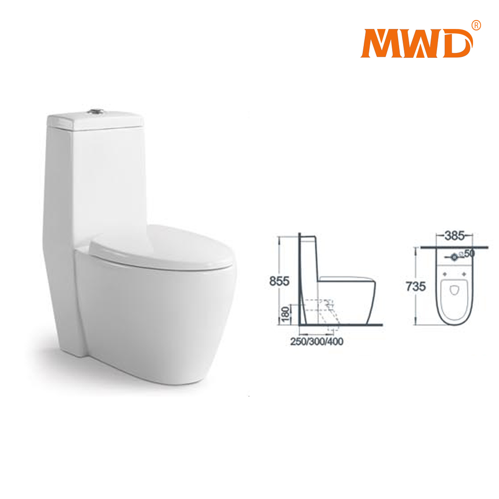 L3917 siphonic &washdown one piece toilet high efficiency toilet