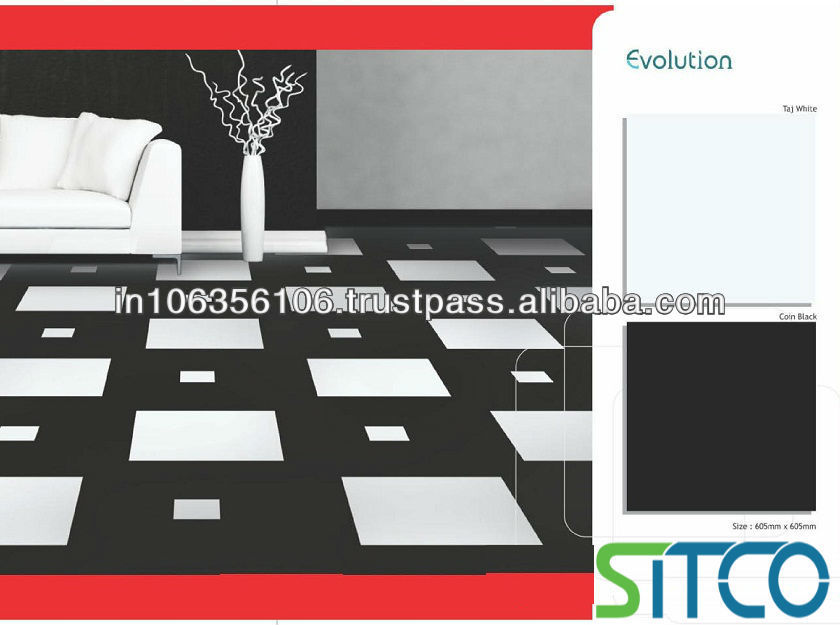 Double Loaded Vitrified Tiles-Evolution_Taj White-Samples available