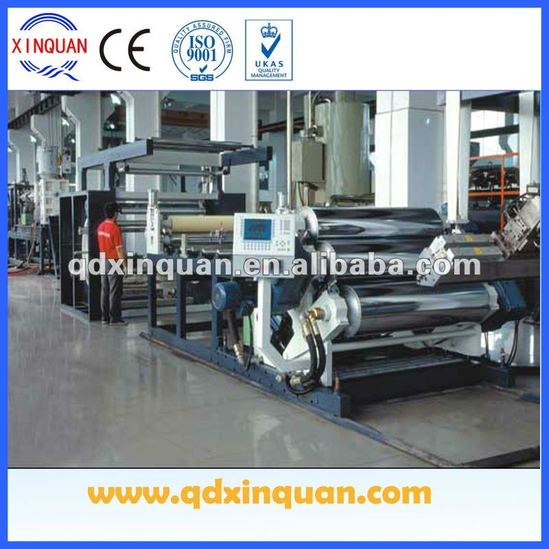 plastic extrusion machines for single layer and multi-layer cast film