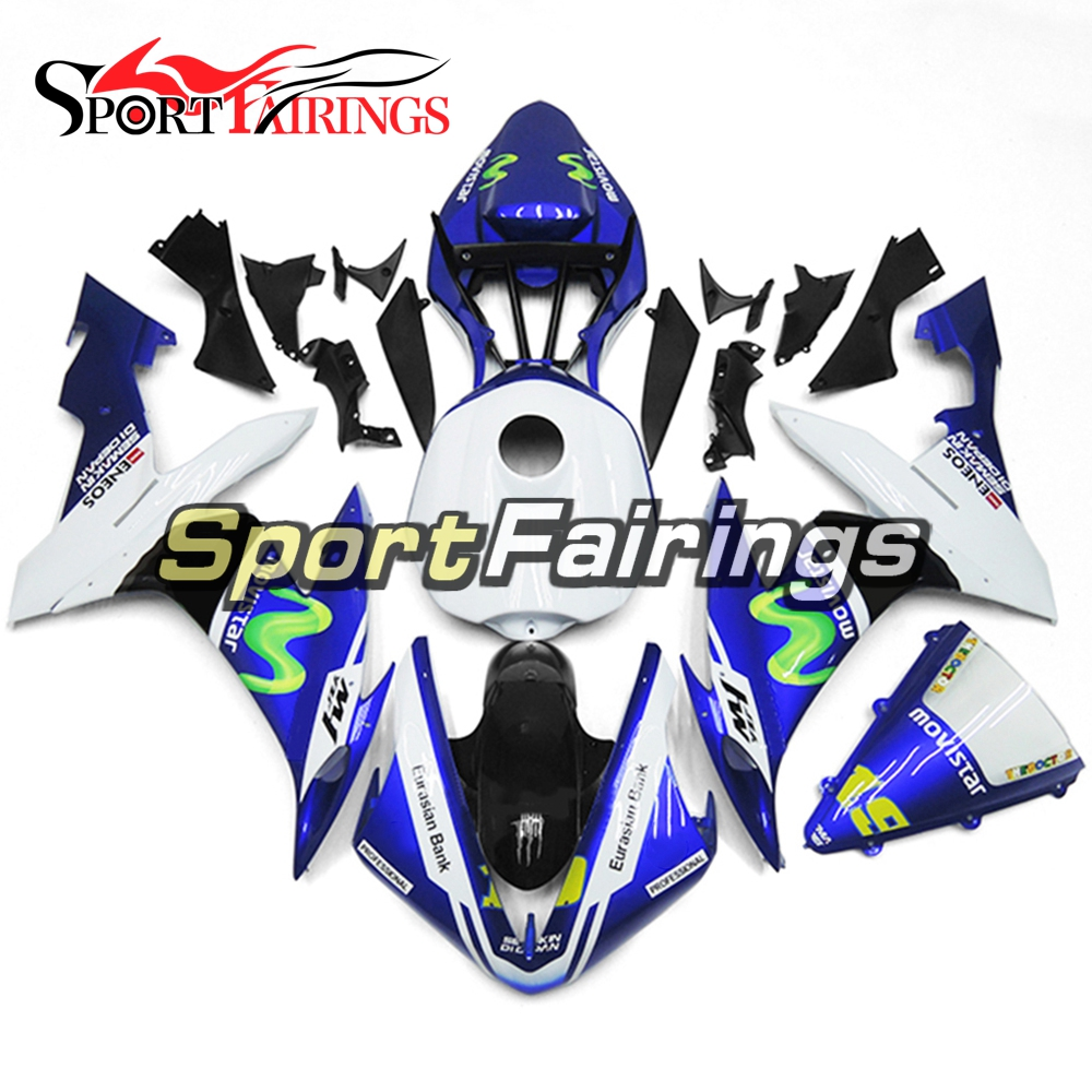 Full Fairings For Yamaha YZF <strong>R1</strong> 04 05 06 ABS Plastic Injection Motorcycle Fairing Kit Body Kits Movistar 19
