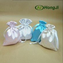 Logo Hot Stamping Satin Pouches Fabric Bracelet Jewelry Bag