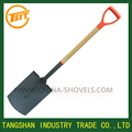 entrenching shovel with wooden handle