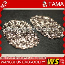 crystal appliques for dresses custom embroidery patch Sew-on