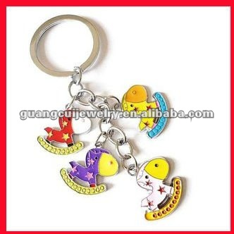 fashion zinc alloy key chain zebra keychain