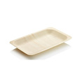 Flexible size bamboo disposable plates