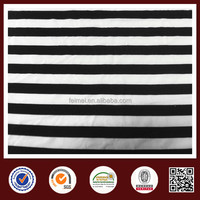 2015 100% polyester black and white striped polyester fabric wholesale