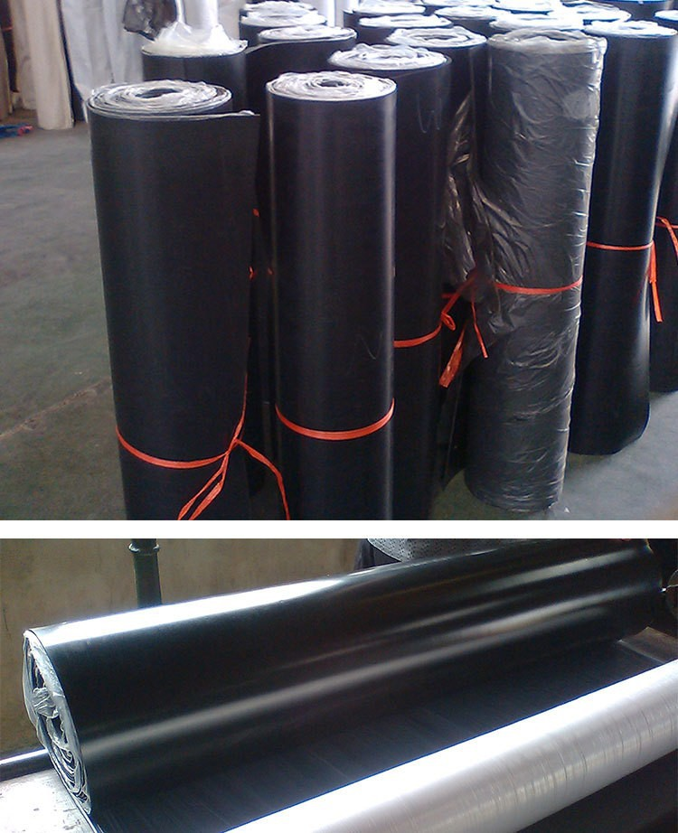 3mm x 4ft Wide black Plate Rubber Flooring Rolls