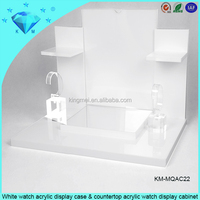 White watch acrylic display case & countertop acrylic watch display cabinet