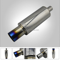 NEW CHINA HI TITANIUM TI POWER UNIVERSAL EXHAUST MUFFLER FOR HKS
