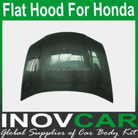City Carbon Fiber Flat Hoods ,Auto Hood For Honda Engine Hood