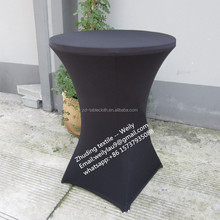 Four feed stand high bar lycra spandex cocktail bistro table cover