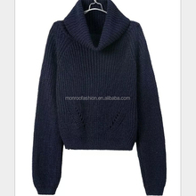 Monroo solid color women fashion name brand sweaters