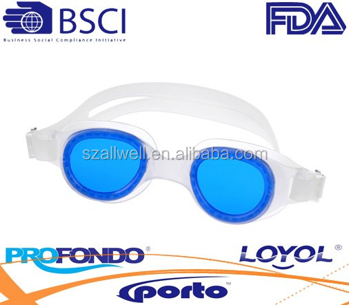 One-piece TPE/PVC swimming goggles -G8011