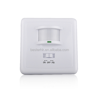 Wall Mounted Hidden Infrared Motion Sensor Switch,220V Time Delay Adjustable LED PIR Sensor Light Switch