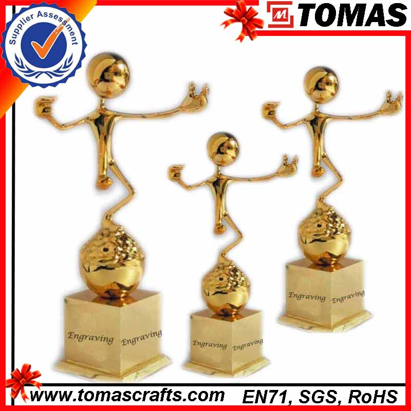 Customized metal trophies and awards