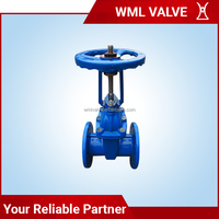 Cast Iron Long Rising Stem Resilient Seated Rubber Soft Seal Flange Gate Valve Z41X Z941X