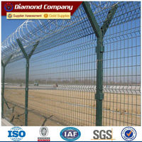 Powder coated Curve welded mesh fence/3D galvanized steel wire fence