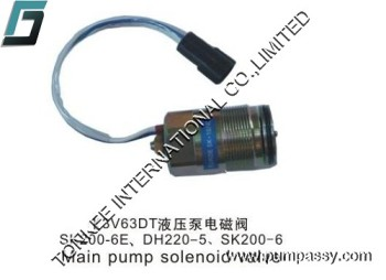 Electric parts SK200-6E DH220-5 SK200-6 K3V63DT main pump solenoid valve